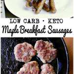Pin this maple breakfast sausage recipe for later!