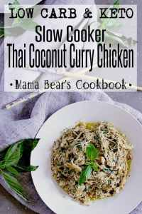 Pin this thai coconut curry chicken recipe for later!