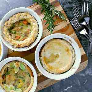 These delicious Individual Turkey Pot Pies are the best way to use up leftover turkey from Christmas, Easter or Thanksgiving.