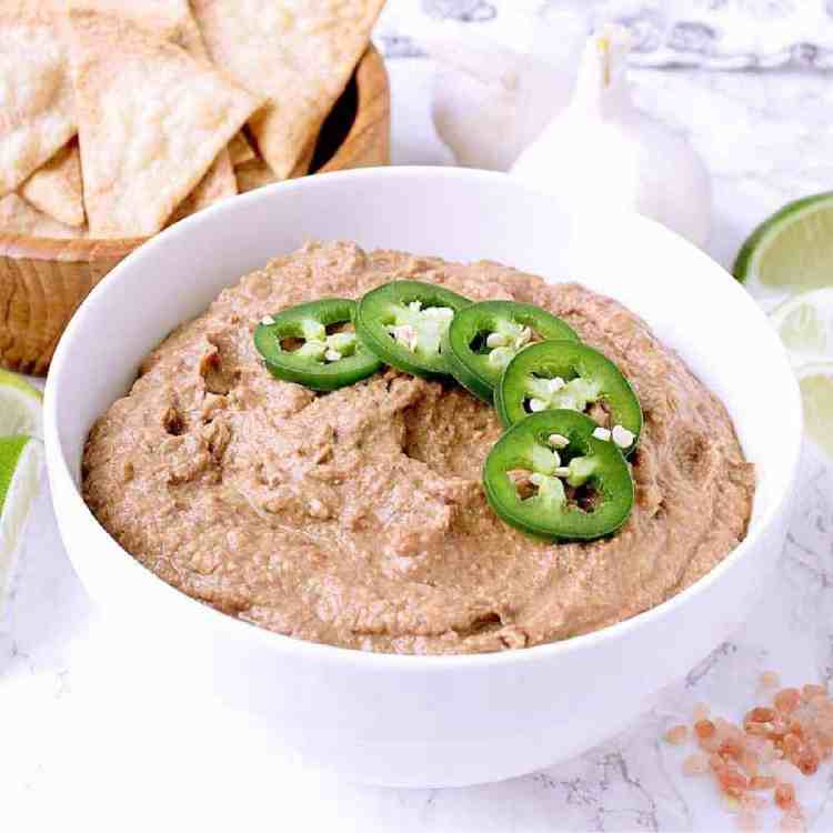 Life just got a whole lot tastier with these Instant Pot Low Carb Refried beans made from black soy beans for all your delicious refried-beanie needs.