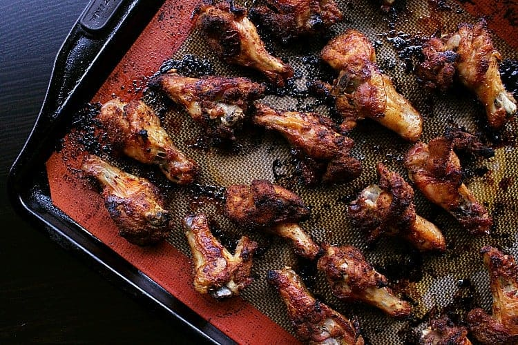 Low Carb Baked Chicken Wings fresh out of the oven.