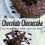 Pin this keto chocolate cheesecake recipe for later!