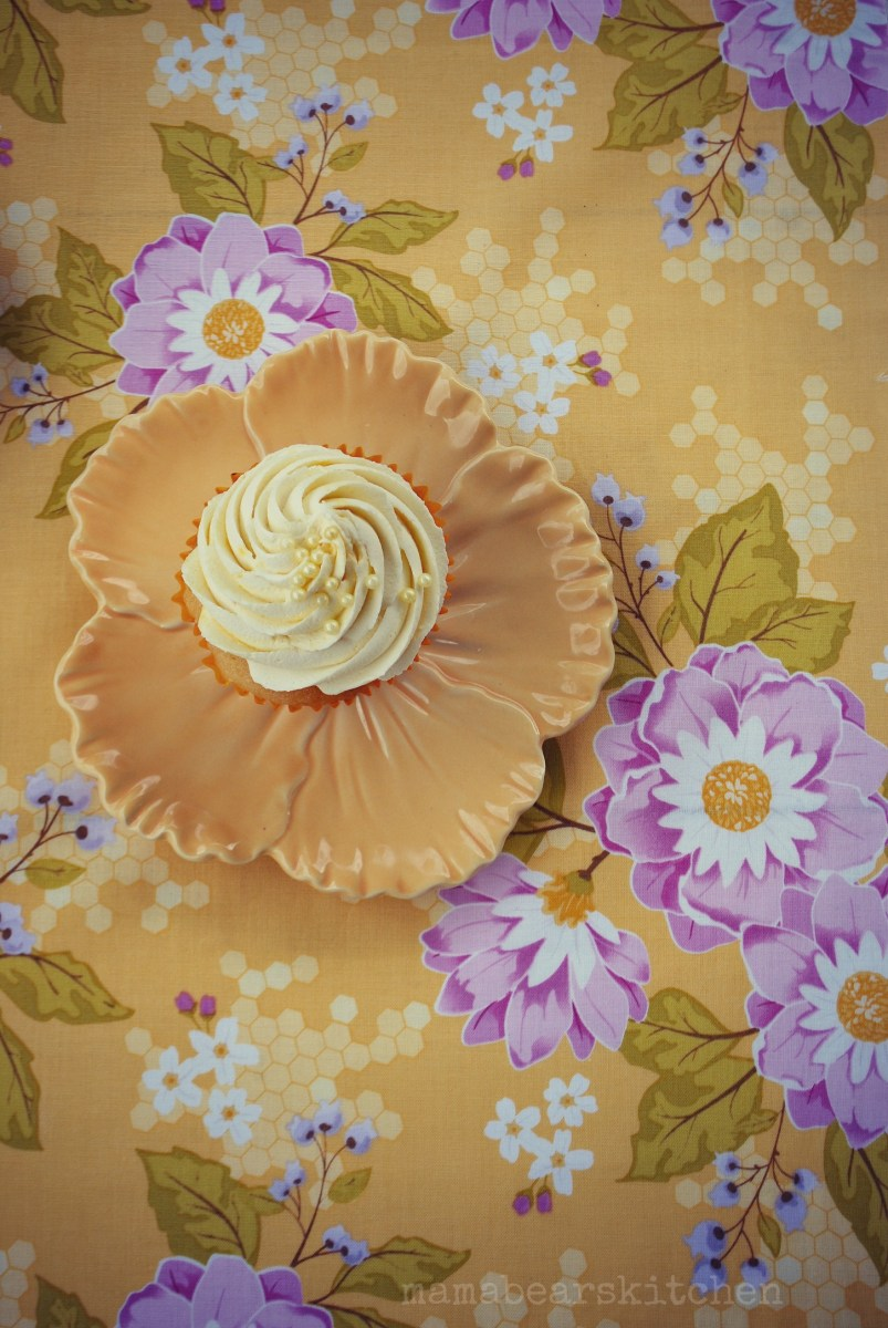 White chocolate & Passionfruit cupcake recipe.