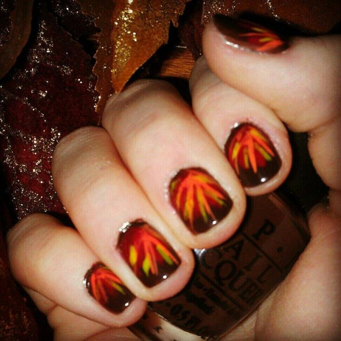 Simple Step By Thanksgiving Nail Art Tutorials For Beginners 2016 Fabulous Designs