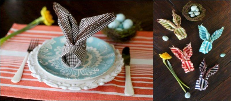23 Napkin And Place Holder DIY39s For A Fancier Easter Dinner Table