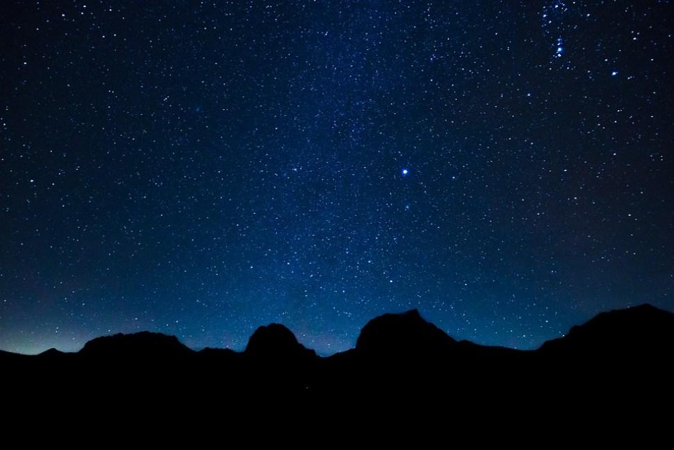 Night Sky and Dark Matter - Black Holes