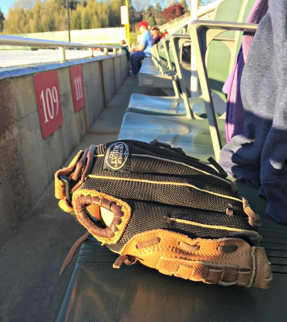 Glove in the Setting Sun - baseball