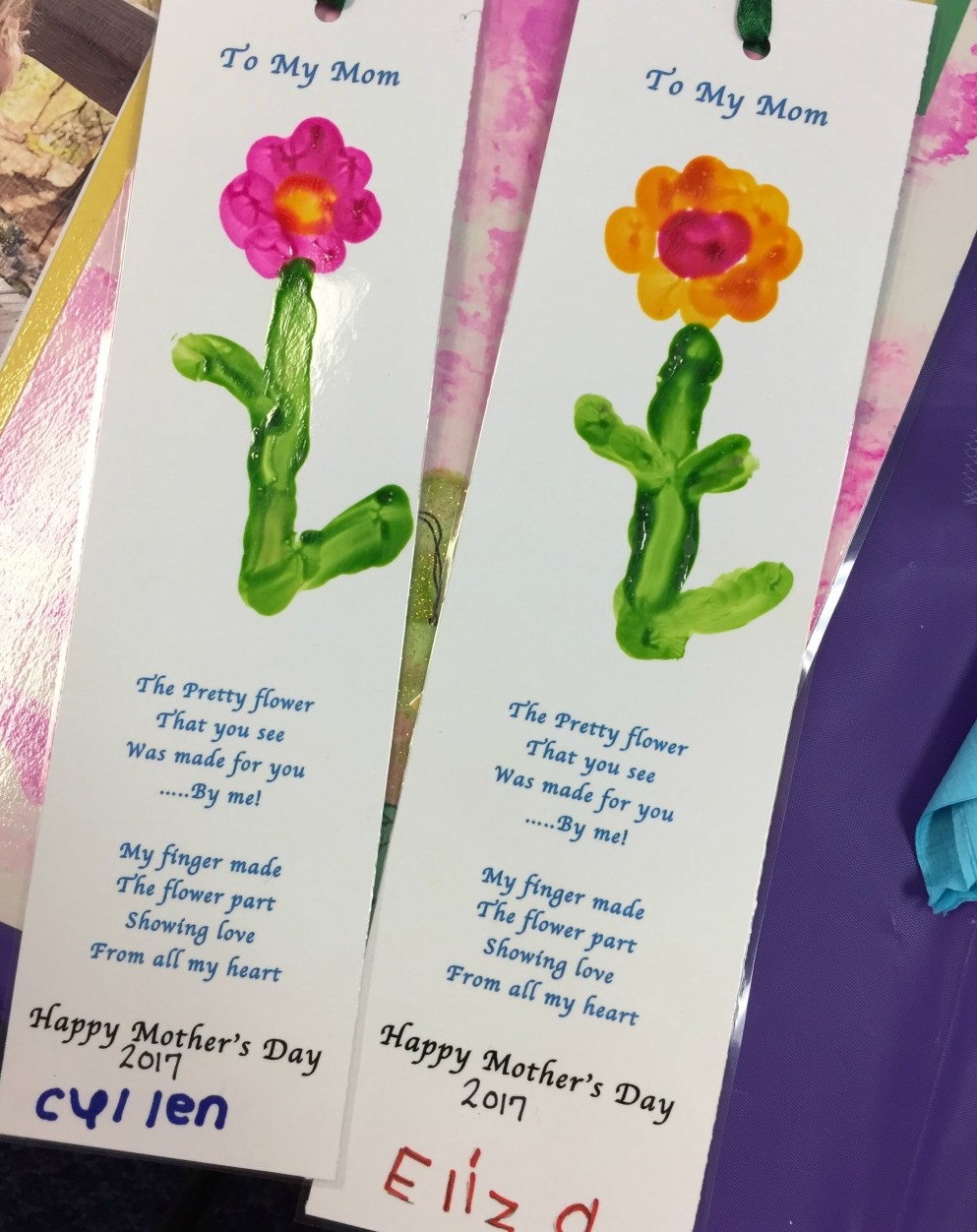 Mother's Day book marks