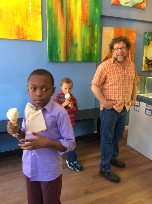 Shoot location 1: the ice cream shop.