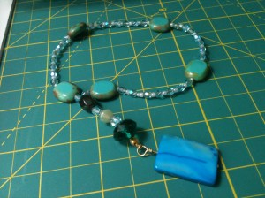 Completed Blue Prayer Beads