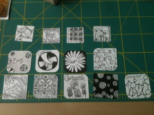 Tiny Zentangle Project 01