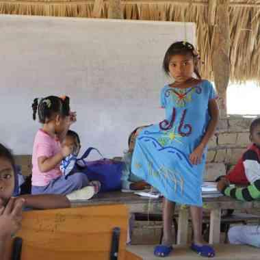Taller de teatro social en la comunidad Tocoromana, Camarones