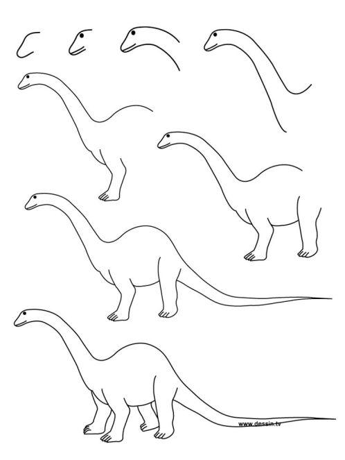 рисуем динозавра