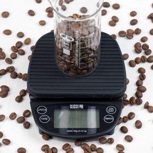 Весы электронные ClassixPro с таймером, черные для заваривания кофе