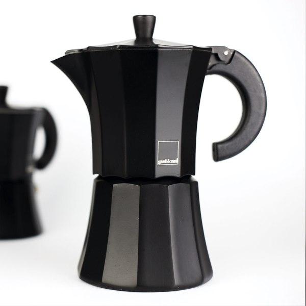 Мока Gnali and Zani Гейзерная кофеварка на 6 чашек. Чёрная