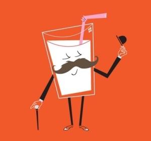 Mustăți de lapte bio, sănătos (P)