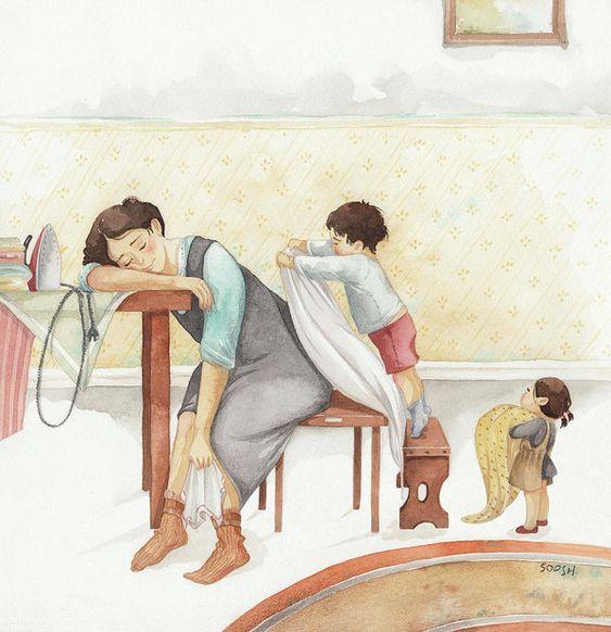 Fiți înțelegători cu mamele. Nu știți de câte ori s-au trezit azi-noapte