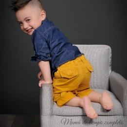 Camisa de Guess. Pantalón de Baby Gap.
