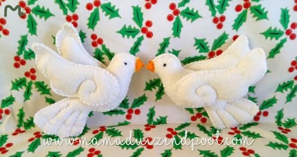 vredesduifjes voor in de kerstboom
