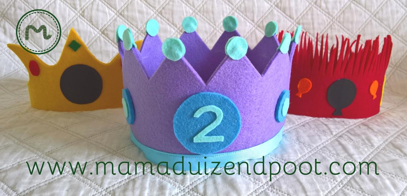 3x Verjaardagskroontjes