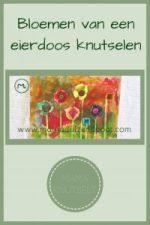 Pinterest - Bloemen van een eierdoos knutselen