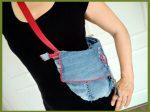 cross-over tas van een spijkerbroek