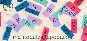 flitskaarten (tafels 1 tot en met 10)