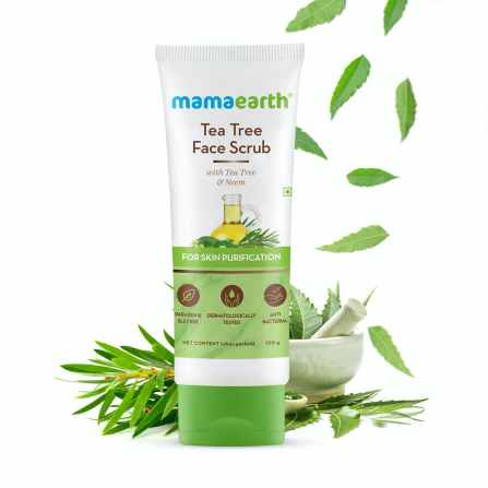 Organic Indian Skincare Products for Oily, Acne-Prone Skin, Mamaearth tea tree face wash