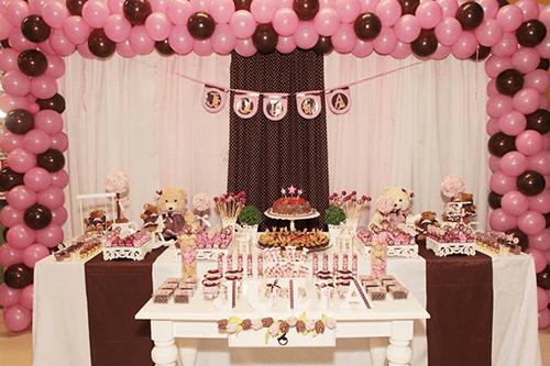 decoração aniversário urso