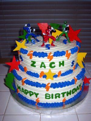 bolo de aniversário Power Rangers do Zach