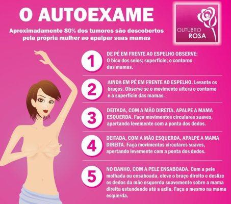 autoexame - câncer de mama