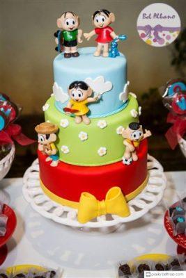 Turma da mônica bolo decorado