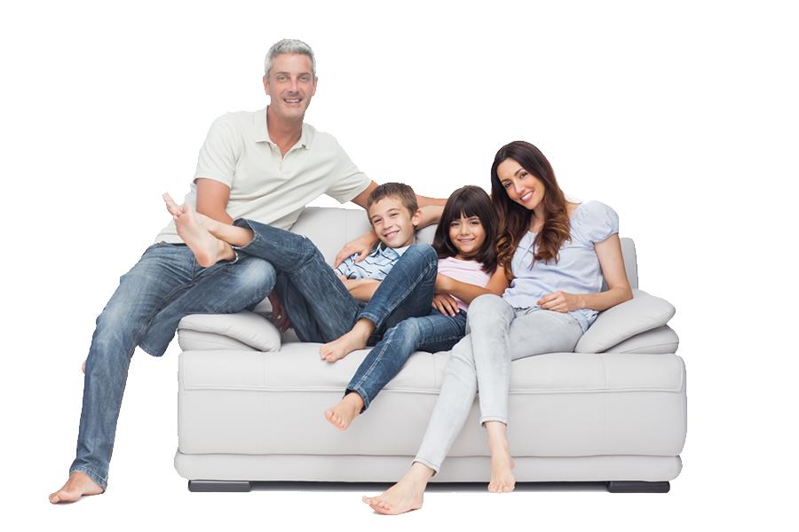 familia sofá