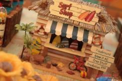 Lojinha de praia em miniatura