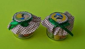 Potinhos com bala de goma