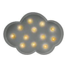 Luminária retrô no formato de nuvem
