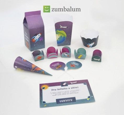kit para festa infantil no tema espaço