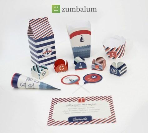 kit festa infantil no tema marinheiro