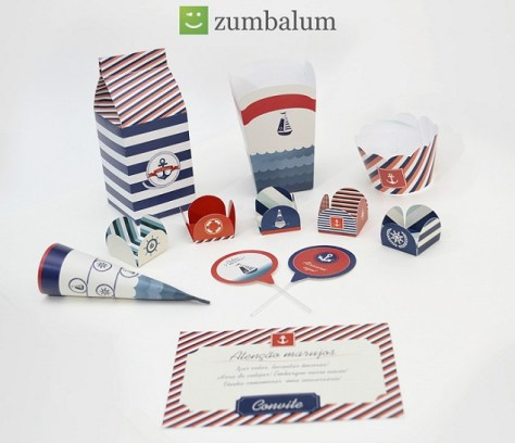 kit de festa no tema marinheiro
