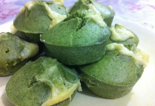 Muffin de espinafre para fazer com as crianças