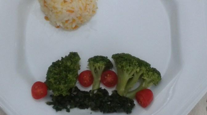 Prato com legumes formando paisagem