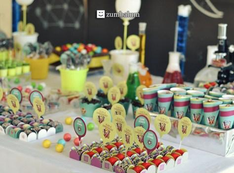 Decoração festa Infantil tema Cientista 7