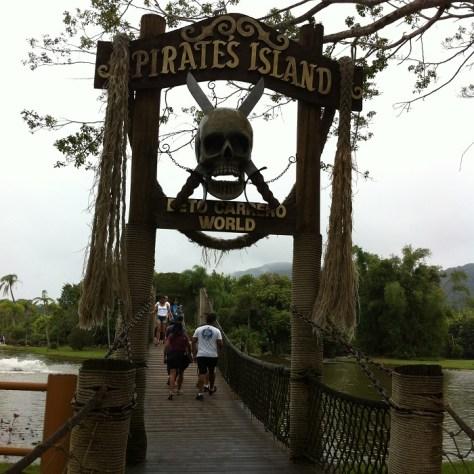 Ponte para a Ilha no Pirata no Beto Carrero World