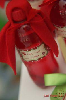 Garrafinha personalizada para festa no tema Chapeuzinho Vermelho