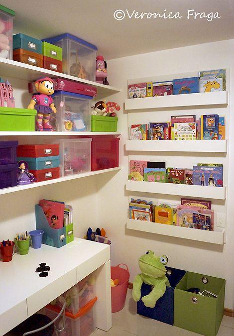Brinquedoteca com espaço para os livros