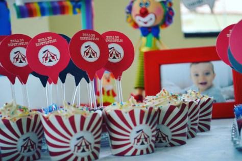 Papelaria para festa infantil no tema Circo