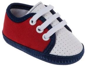 Tênis de bebê de menino para enxoval de bebê
