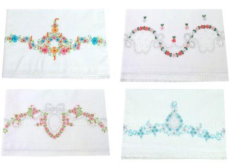Vários modelos de cueiro para enxoval de bebê floral