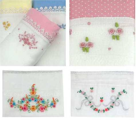 Fraldas de pano para enxoval de bebê floral