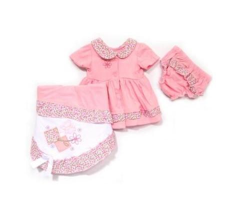 Saída maternidade rosa para bebês meninas